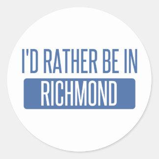 I'd rather be in Richmond VA Round Sticker