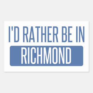 I'd rather be in Richmond VA Sticker