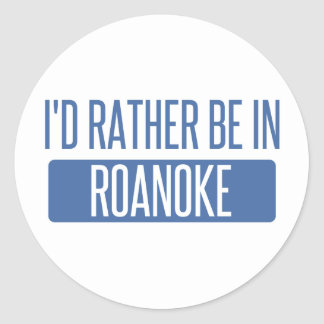 I'd rather be in Rochester Hills Classic Round Sticker