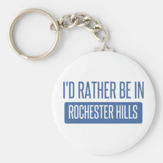 I'd rather be in Rochester MN Basic Round Button Keychain