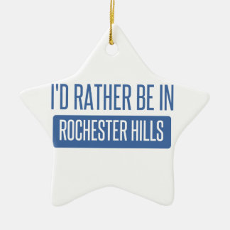 I'd rather be in Rochester MN Ceramic Ornament