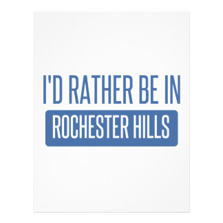 I'd rather be in Rochester MN Letterhead Template