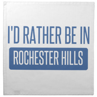 I'd rather be in Rochester MN Napkin