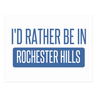 I'd rather be in Rochester MN Postcard