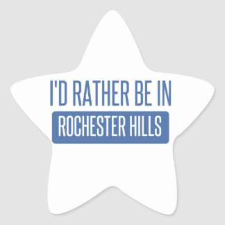 I'd rather be in Rochester MN Star Sticker