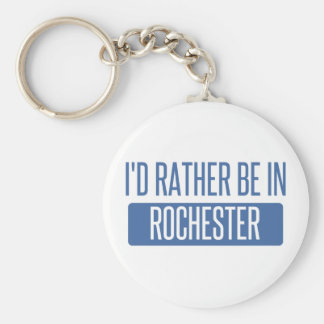I'd rather be in Rochester NY Basic Round Button Keychain