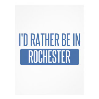 I'd rather be in Rochester NY Letterhead