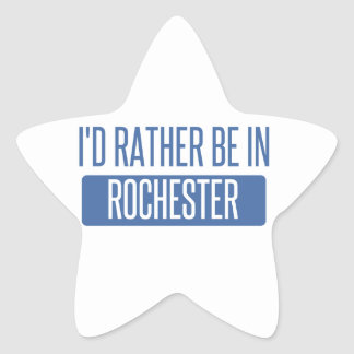 I'd rather be in Rochester NY Star Sticker