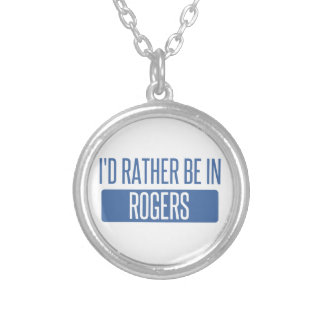 I'd rather be in Rogers Silver Plated Necklace