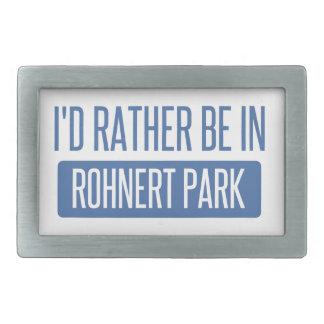 I'd rather be in Rohnert Park Rectangular Belt Buckles