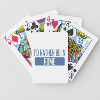 I'd rather be in Rome Bicycle Playing Cards