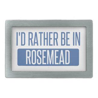 I'd rather be in Rosemead Rectangular Belt Buckles