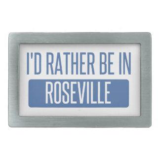 I'd rather be in Roseville MI Rectangular Belt Buckle