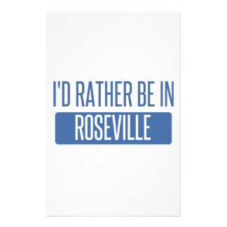 I'd rather be in Roseville MI Stationery