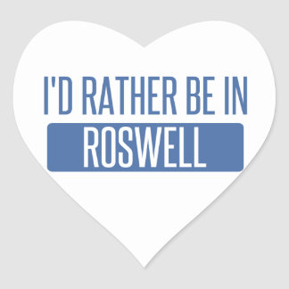 I'd rather be in Roswell GA Heart Sticker