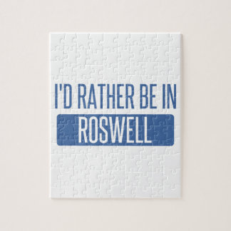 I'd rather be in Roswell GA Jigsaw Puzzle