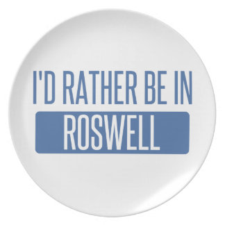 I'd rather be in Roswell GA Plate