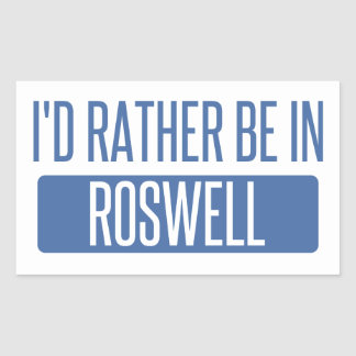 I'd rather be in Roswell GA Sticker