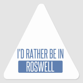I'd rather be in Roswell GA Triangle Sticker