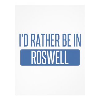 I'd rather be in Roswell NM Letterhead