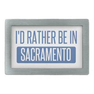 I'd rather be in Sacramento Rectangular Belt Buckles