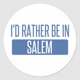 I'd rather be in Salem MA Classic Round Sticker