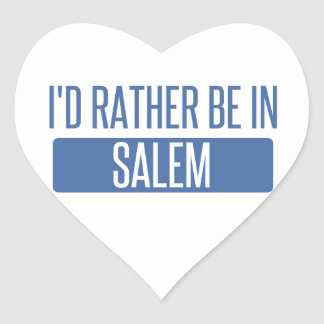 I'd rather be in Salem MA Heart Sticker