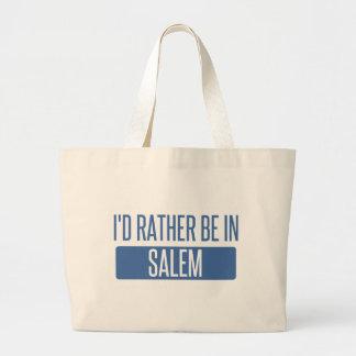 I'd rather be in Salem MA Large Tote Bag