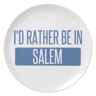 I'd rather be in Salem MA Plate