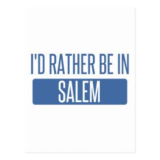 I'd rather be in Salem MA Postcard