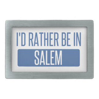 I'd rather be in Salem MA Rectangular Belt Buckle