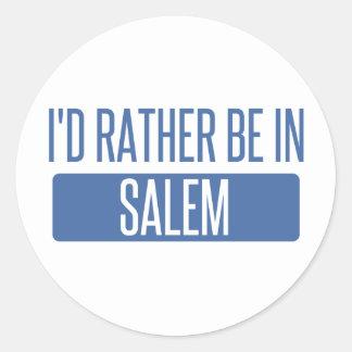 I'd rather be in Salem MA Round Sticker