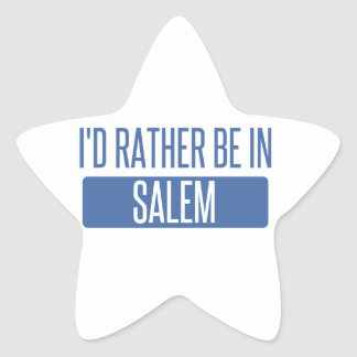 I'd rather be in Salem MA Star Sticker