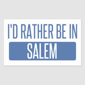 I'd rather be in Salem MA Sticker