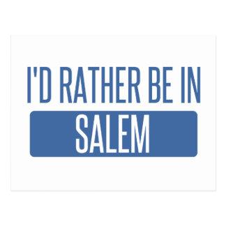 I'd rather be in Salem OR Postcard