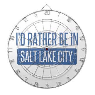 I'd rather be in Salt Lake City Dartboard