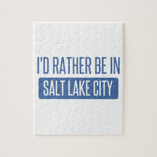 I'd rather be in Salt Lake City Jigsaw Puzzle