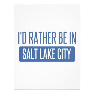 I'd rather be in Salt Lake City Letterhead