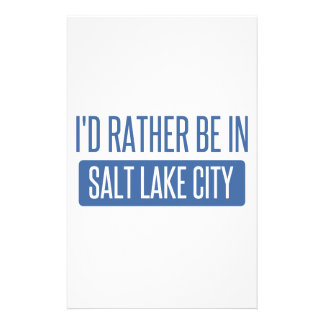 I'd rather be in Salt Lake City Stationery