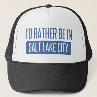 I'd rather be in Salt Lake City Trucker Hat