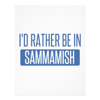 I'd rather be in Sammamish Letterhead