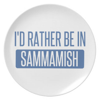 I'd rather be in Sammamish Plate