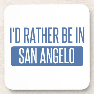 I'd rather be in San Angelo Beverage Coasters