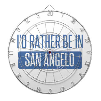 I'd rather be in San Angelo Dartboard