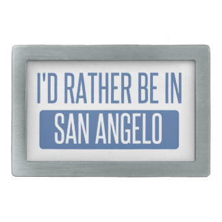 I'd rather be in San Angelo Rectangular Belt Buckle