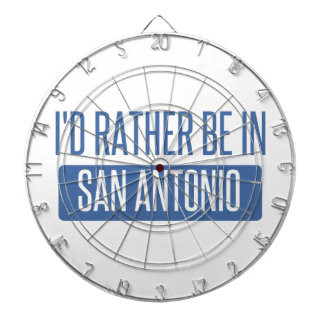 I'd rather be in San Antonio Dartboard