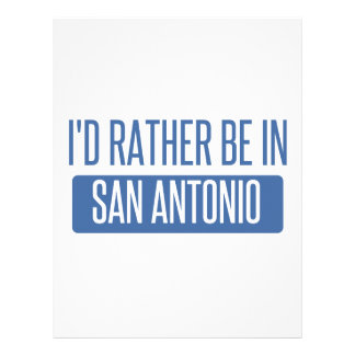 I'd rather be in San Antonio Letterhead Template