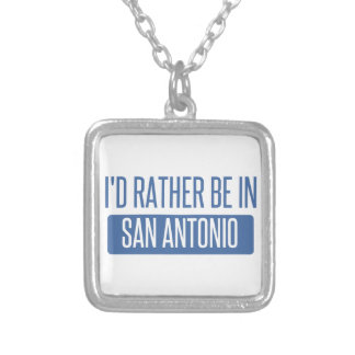 I'd rather be in San Antonio Silver Plated Necklace