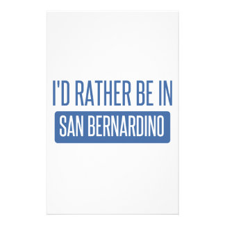 I'd rather be in San Bernardino Stationery