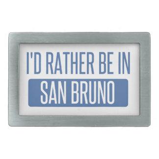 I'd rather be in San Bruno Belt Buckle